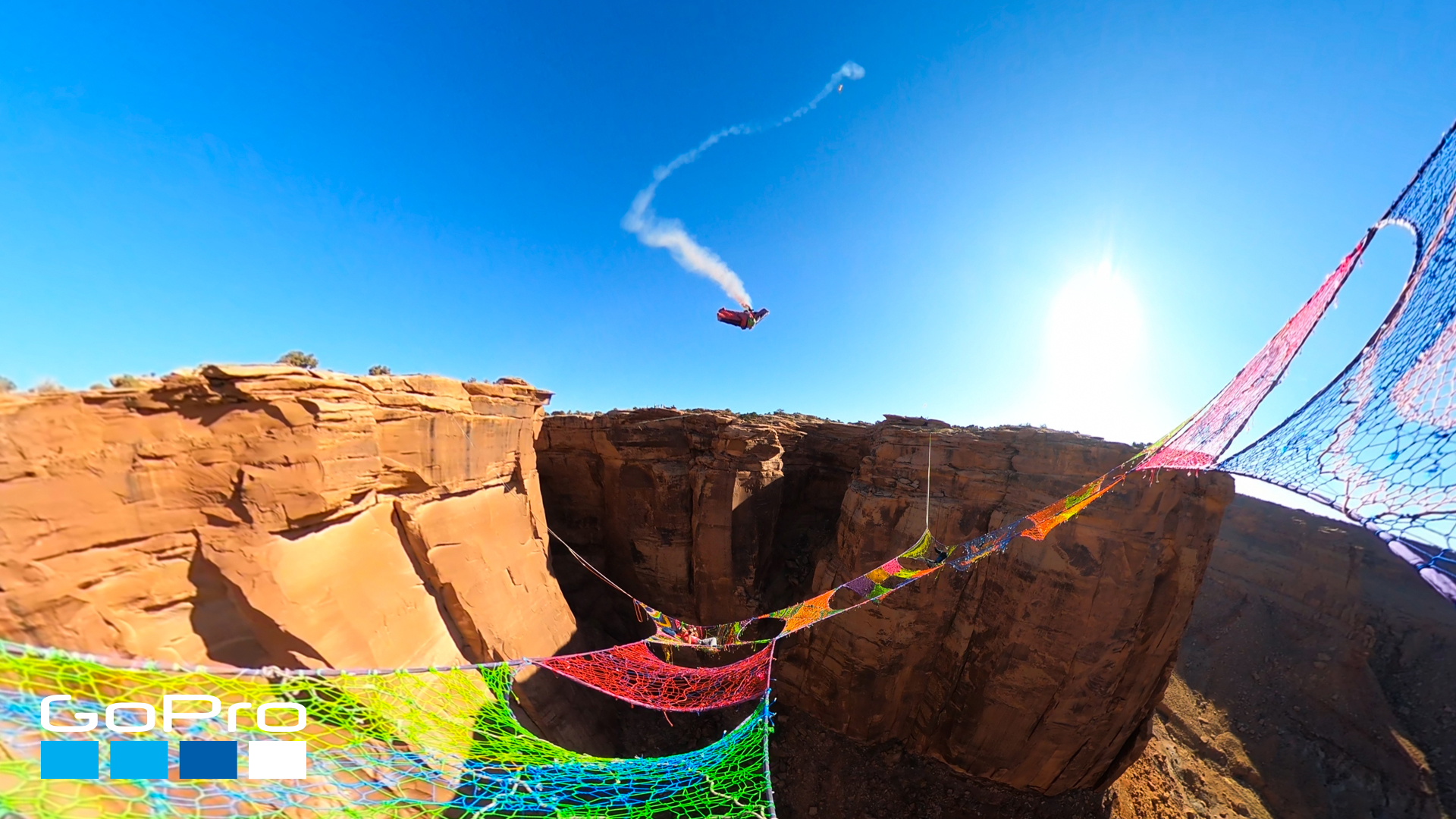 Wingsuiter-Flies-Through-Narrow-Hole